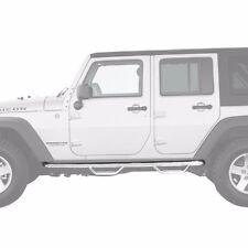 Smittybilt Stainless Nerf Bars w/ Step 2007-2016 4dr Jeep Wrangler JK J0764-SS