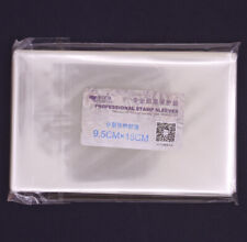 100 Pcs Stamp Sleeves Holders Professional Collection Protection 9.5X15cm New