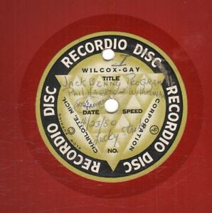 25 used Wilcox Gay Recordio discs - an audio snapshot of a family in the 1940s
