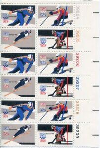 US Scott #1795-1798 Winter Olympics Plate Block MNH. Free Shipping.