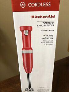 KitchenAid Cordless Variable Speed Immersion Hand Blender KHBBV53ER (Red)