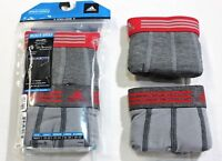 "adidas Charcoal Gray Athletic Stretch 2-Pack Trunk Brief Underwear - 3.5"" Inseam"