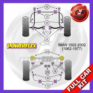 For BMW 1502-2002 62-77 RrBeam Mnt Bushes, Trail Arm Adj Powerflex Full Bush Kit
