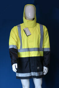 Rainbird Sentinel waterproof breathable rain jacket with hood hi-vis size Large