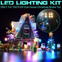 USB LED Light Lighting Kit For LEGO 10275 Elf Club House Christmas Bricks Toy