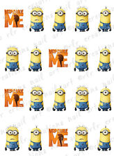 20 NAIL DECALS *DESPICABLE ME* Asst WATER SLIDE NAIL DECALS Cute Nail Art Decals