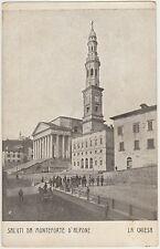 SALUTI DA MONTEFORTE D'ALPONE - LA CHIESA (VERONA) 1917