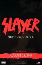 Slayer 2001 God Hates Us All Promo Poster Jeff Hanneman Kerry King Original