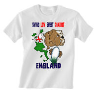 ENGLAND RUGBY CHILDRENS T SHIRT KIDS SIX NATIONS 6 BULLDOG FLAG SWING LOW T52