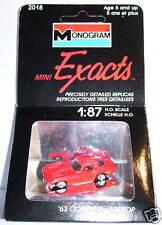 EXACTS MONOGRAM HO 1/87 CHEVROLET CORVETTE 63 HARDTOP in BOX