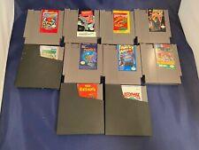 Nintendo NES Lot of 10 Games Friday 13th Burai Fighter Rad Racer Manta & More!
