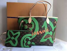 Auth New Louis Vuitton Neverfull MM Tahitienne Hawaii Exclusive Bag 2017 Limited