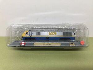 DIE CAST N GAUGE LOCO - VIA RAIL LRC - DEL PRADO - MINT IN BOX