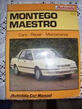 Austin Montego Maestro 1984 to 1990 Autodata Car Repair Maintenance Car Manual