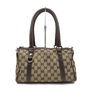 Gucci Hand Bag  Beiges Canvas 1417667