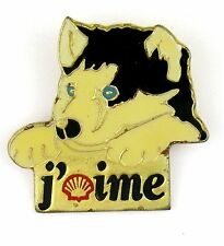 Pin's pin badge ♦ AUTOMOBILE STATION ESSENCE SHELL - CHIEN HUSKY