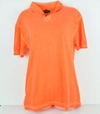 Red Jacket Medium See Trough Orange Cotton Polo Tshirt Short Sleeve Mens Tee