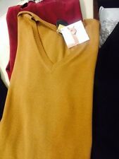 NWT 100% Cites certified vicuna wool v neck sweater. Natural color