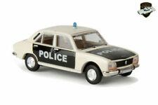 Véhicules policiers miniatures noirs en plastique