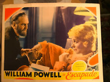 Escapade 1935 MGM lobby card Virginia Bruce Frank Morgan