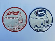 Budweiser / Bud Light Connecticut Beer Mat / Coaster