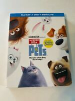 The Secret Life of Pets w/ Slipcover (Bluray/DVD, 2016) [BUY 2 GET 1]