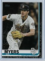 2019 Topps Series 2 Baseball Black Parallel Wil Myers San Diego Padres 54/67 SP