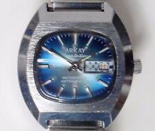 Gents Arkay Super De Lux Mechanical Date Watch Working For Sale