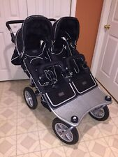Valco Baby Double Stroller Tri-Mode Runabout Twin w/All Accessories!