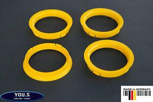 4 x Centring Ring 74,1 - 65,1 MM Vauxhall Volvo Peugeot Citroen Alfa Schmidt DBV