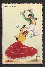 Embroidered clothing postcard Artist Grreta Dancers music Andalucia #65
