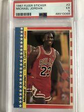 1987 Fleer Michael Jordan Sticker #2 PSA 5 NEW SLAB CHICAGO BULLS HOF GOAT