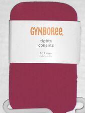 GYMBOREE Girl's Dark Pink Tights Size 6-12 Months