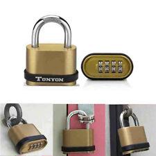Weatherproof Security Four-digit Number Combination Zinc Alloy Lock Padlock #B9