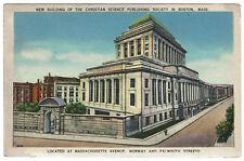 AK US USA Post Card New Bldg. Christian Science P. Society BOSTON gelaufen 1939