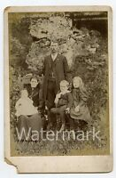 Cabinet Card Photo Family outdoors