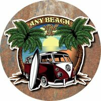 Vw Bus T1 Surf  Van Stickers VintageCar Decals Retro Classic Any beach will do