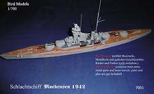 Schlachtschiff    Mackensen 1942 1/700 Bird Models Resinbausatz / resin kit