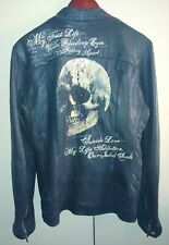 Jaded By Knight Los Angeles Womens Black Leather Jacket Skull Must Have FASTSHIP