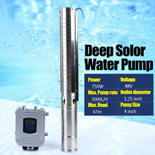 4 Deep Bore Well Solar Water Pump 48v Submersible Mppt Controller Kit 750w