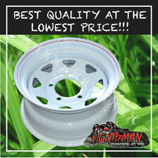 16x8 5 STUD WHITE STEEL WHEEL 0 OFFSET 5/150 SUIT TOYOTA LANDCRUISER