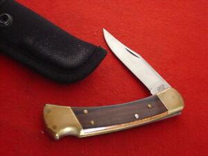 "Buck USA FOLDING HUNTER 110 5"" Lock Blade 2005 Lockback Sheath Knife MINT"