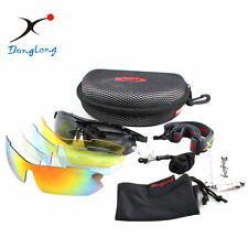 Polarized Sports Sunglasses W/Interchangeable Lenses for Cycling,Fishing,Driving
