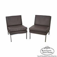 Milo Baughman Thayer Coggin Pair of Chrome Frame Lounge Chairs