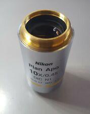 Nikon Plan Apo Dic N1 10x045 Microscope Objective