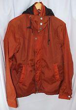 Albam 1/S orange harrington jacket windbreaker made in England nylon hooded