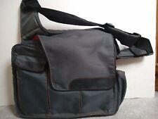 Diaper Dude Messenger Style Bag Diaper Bag Gray/Orange New
