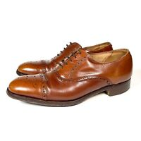 Trickers Corniche Mens Brown Leather Brogue Shoes Smart Made In England Size 9.5