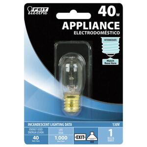 Feit Electric BP40T8N-130 Appliance Light Bulb, T8, 40watt, 130 Volts