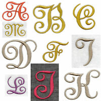 FABRIC Iron On Edwardian LETTER'S NUMBER'S Embroidered Applique Motif on felt